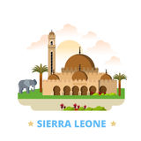 Sierra Leone country design template Flat cartoon. Sierra Leone country design template. Flat cartoon style historic sight showplace web site vector illustration Stock Image
