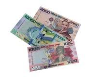 Sierra Leone d'argent Photographie stock libre de droits