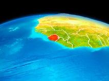 Sierra Leone en rouge Image stock