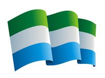Sierra Leone flag Royalty Free Stock Photo