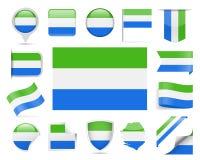 Sierra Leone Flag Vector Set Foto de archivo libre de regalías