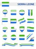 Sierra Leone Flag Vector Set Fotos de archivo libres de regalías