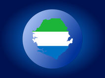 Sierra Leone globe Royalty Free Stock Images