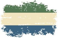 Sierra Leone grunge flag. Vector illustration. Royalty Free Stock Photography