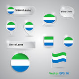 Sierra Leone icon set of flags Royalty Free Stock Image