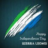 Sierra Leone Independence Day Patriotic Design Immagini Stock Libere da Diritti