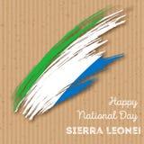 Sierra Leone Independence Day Patriotic Design Immagine Stock