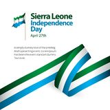 Sierra Leone Independence Day Vector Template-Entwurfs-Illustration vektor abbildung