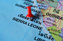 Sierra leone map Royalty Free Stock Images