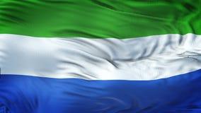 SIERRA LEONE Realistic Waving Flag Background Image stock