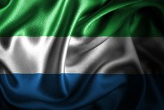 Sierra Leone Silk Satin Flag ilustración del vector