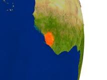 Sierra Leone sur terre illustration de vecteur