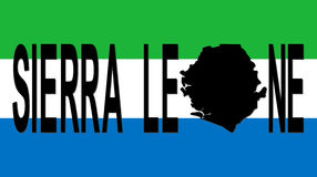 Sierra Leone text with map Royalty Free Stock Photography