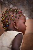 Sierra Leone typowa głowa włosy z warkocza afrykanina dzieckiem Obraz Stock