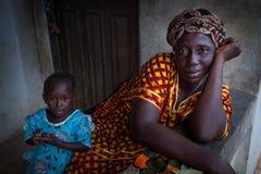 Sierra Leone Västafrika, byn av Yongoro Royaltyfri Foto