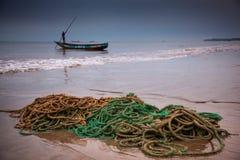 Sierra Leone Västafrika, stränderna av Yongoro arkivbilder