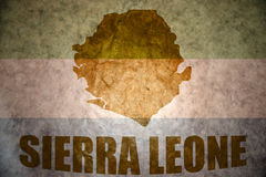 Sierra leone vintage map Royalty Free Stock Images