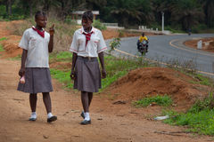 Sierra Leone, West-Afrika, das Dorf von Yongoro Stockfoto