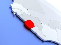 Sierra Leone on world map Stock Photos