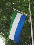 Sierra Leonean Flag of Sierra Leone Royalty Free Stock Image