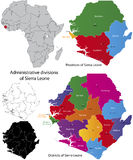 Sierra- Leonekarte Lizenzfreies Stockbild
