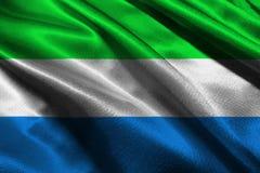 Sierra Leonevlag, 3D de illustratiesymbool van de Sierra Leone nationaal vlag Stock Foto's