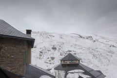Sierra località di soggiorno di Nevada Spain Ski Immagine Stock Libera da Diritti