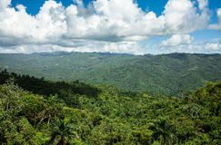 Sierra Maestra mountain range in cuba Stock Photography