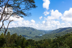 Sierra Maestra Mountains in Cuba. With lake view Royalty Free Stock Photos