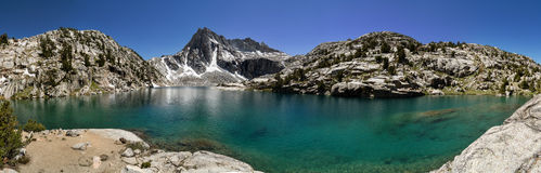 Sierra Mountain Lake Panorama Royalty Free Stock Image
