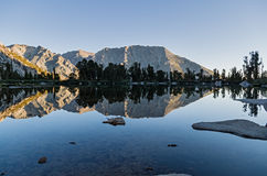 Sierra Mountain Lake Reflection Stock Photo