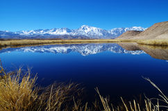 Sierra Mountain Reflection Stock Photography