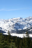 Sierra Mountains. Landscape of snow capped mountains of the Sierras stock image