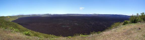Sierra Negra Caldera. Panoramic view of the Sierra Negra crater (caldera) on Isabela Island, Galapagos Stock Photos