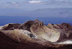 Sierra Negra, isola di Isabela fotografie stock libere da diritti