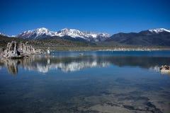 Sierra Nevada. Peaks Reflecting on Mono Lake Stock Image