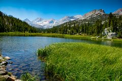 Sierra Nevada Alpine Lake Reflections stock images