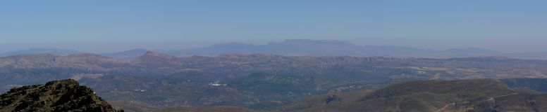 Sierra Nevada del panorama Imagen de archivo