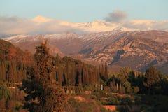 Sierra Nevada en la puesta del sol Fotografía de archivo libre de regalías