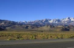Sierra Nevada en luz de la mañana Foto de archivo libre de regalías
