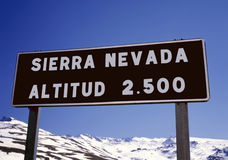 Sierra Nevada, Espagne photo libre de droits