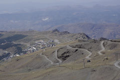 The Sierra Nevada hosts the highest peaks of inland Spain. Stock Images