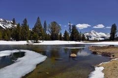 Sierra Nevada. A lake in Sierra Nevada, California, at East border of Yosemite National Park Stock Image
