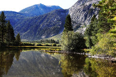 Sierra Nevada Mountain Lake. A beautiful lake in the Sierra Nevada Mountains Royalty Free Stock Images