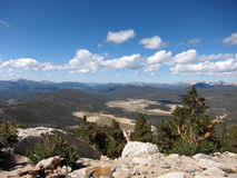 Sierra Nevada mountain range in California Stock Photography