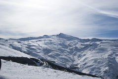 Sierra Nevada. Mountain Range, January, Snow, Winter holidays Stock Photo