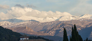 Sierra nevada mountain range spain Stock Photo