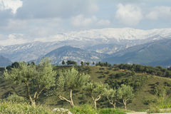Sierra nevada mountain range spain Royalty Free Stock Images