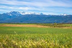 Sierra nevada mountain range spain Royalty Free Stock Images