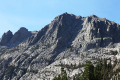 Sierra Nevada Mountain Rock Face. A beautiful mountain with sharp rock edges in the Sierra Nevada Mountains Royalty Free Stock Photography